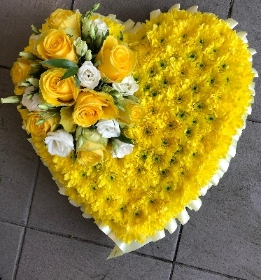 Yellow Traditional Heart