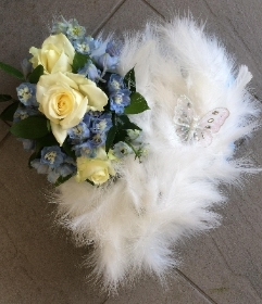 Baby Blue Feather Heart
