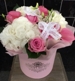 Pink and White Luxury Hatbox
