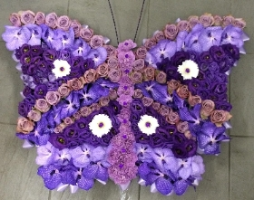 Purple Orchid Butterfly Tribute