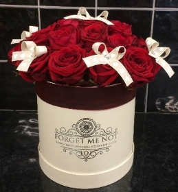 Luxury Red Rose Hatbox