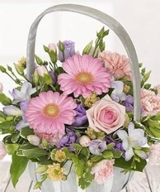Pastel Blush Basket